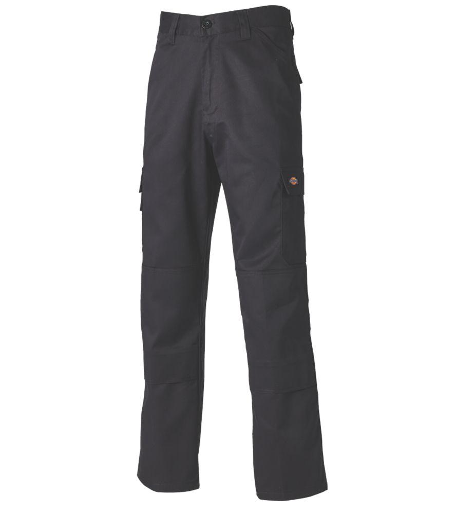 "Dickies Everyday Work Trousers Black 44"" W 29"" L"