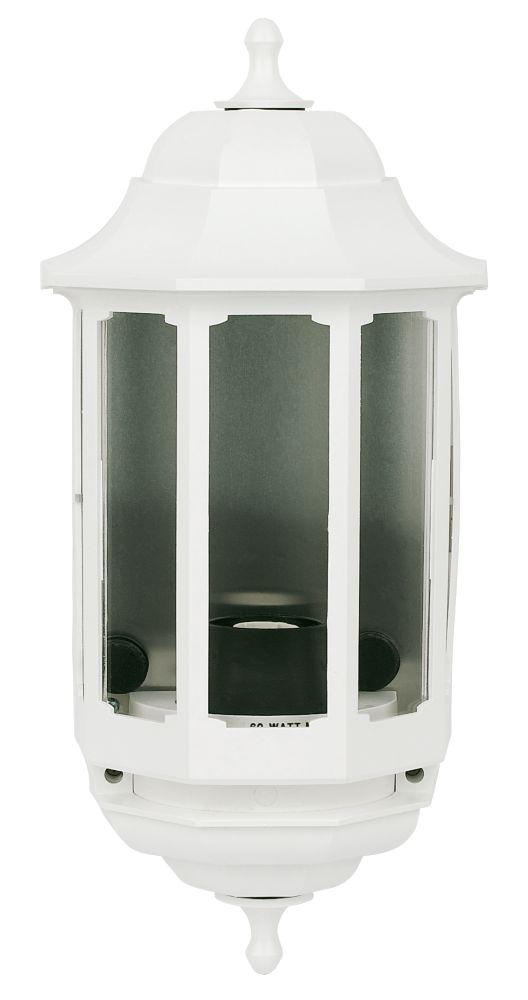 ASD 60W White Slave Half Lantern Wall Light