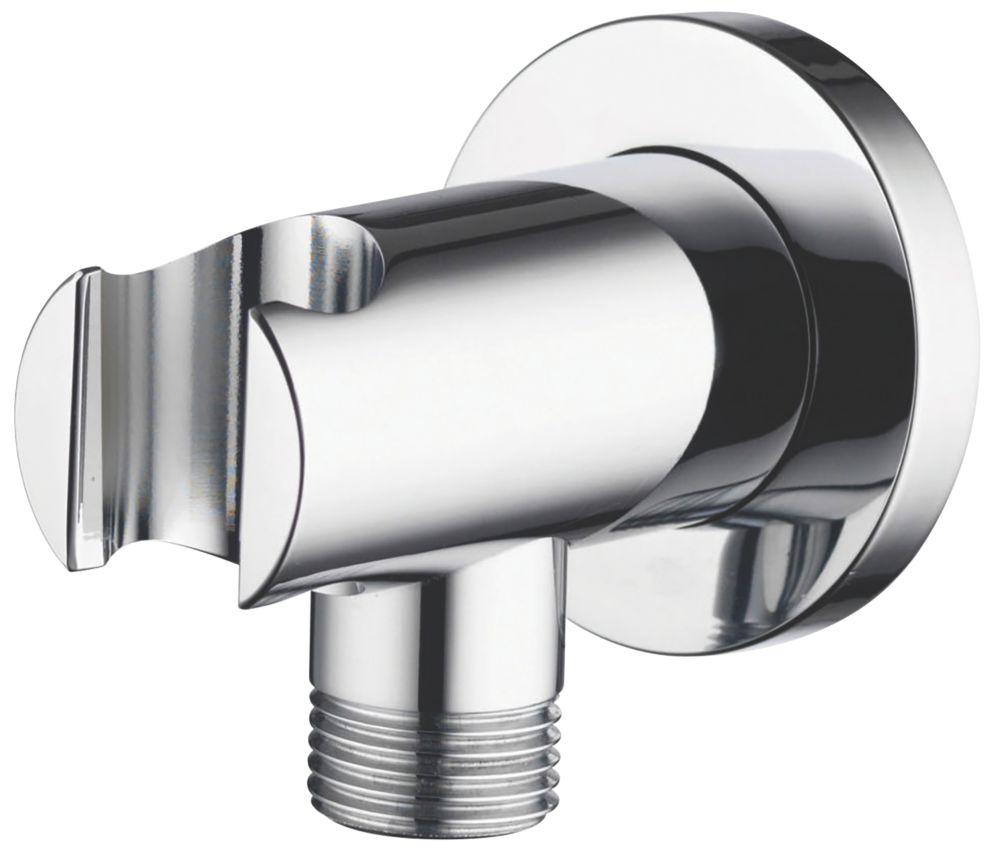 Aqualisa Wall Outlet with Hand Shower Holder Chrome 53mm