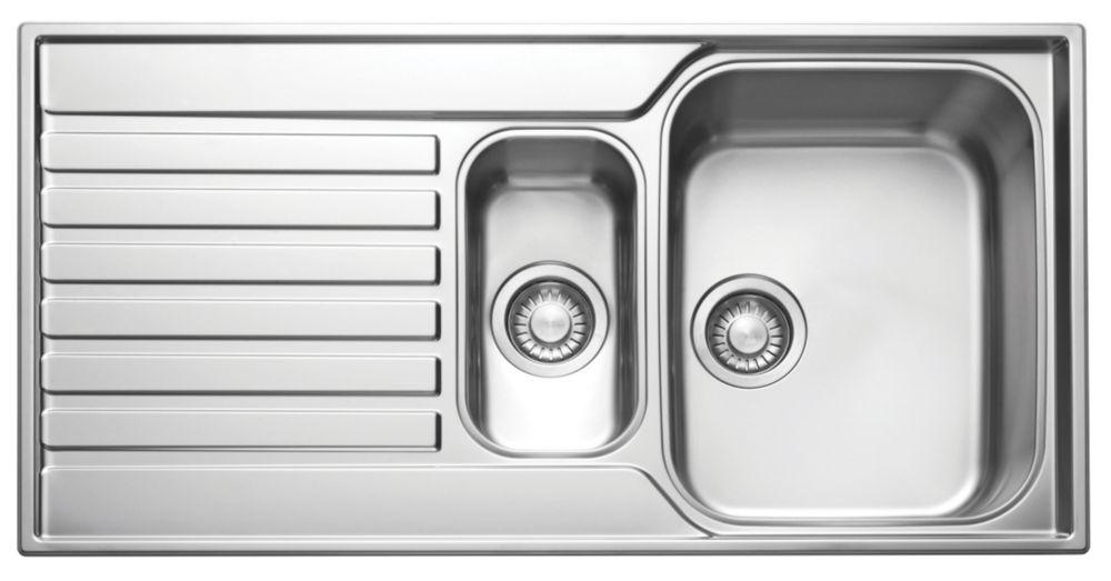 Franke Ascona Inset Sink Stainless Steel 1.5 Bowl 1000 x 510mm