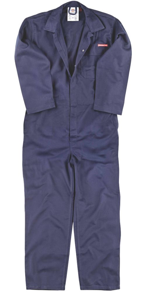 """Dickies FR24/7 Flame Retardant Coverall Navy Large 46"""" Chest 31"""" L"""