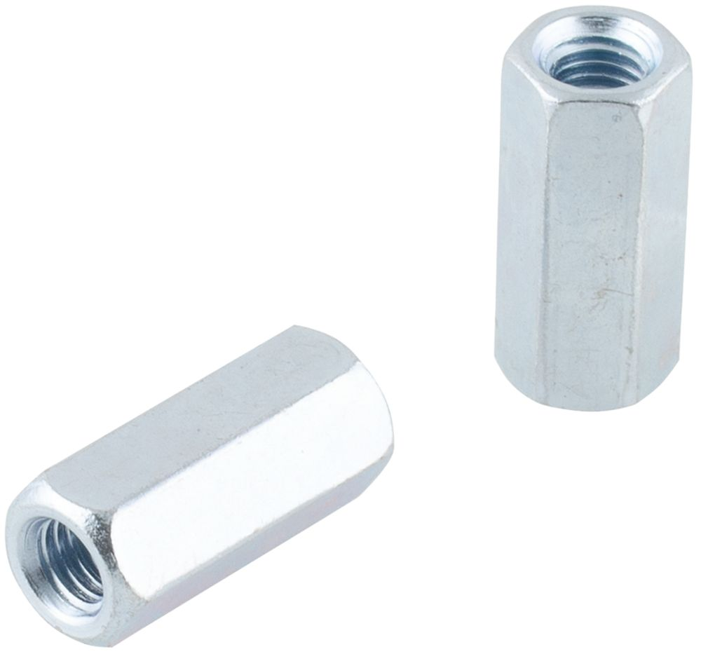 Easyfix Carbon Steel Threaded Rod Connecting Nuts M8 10 Pack