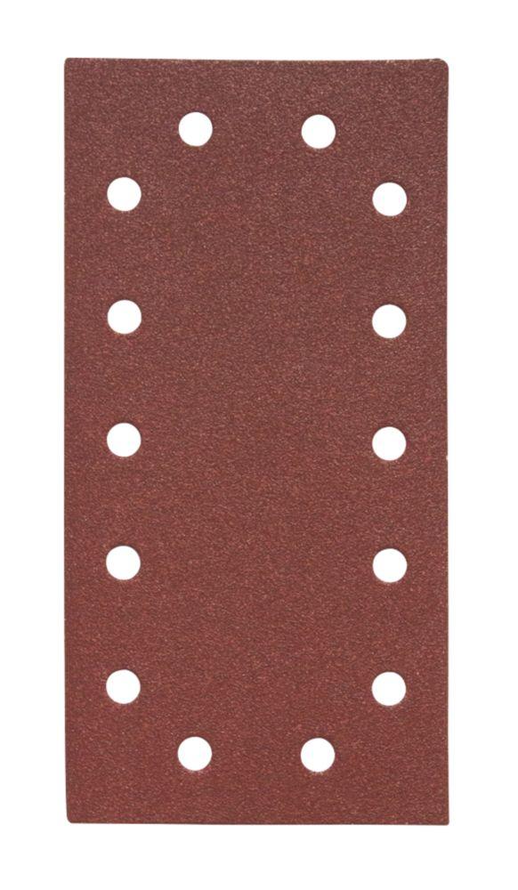 Flexovit Orbital ½ Sanding Sheets Punched 230 x 115mm 80 Grit 5 Pack