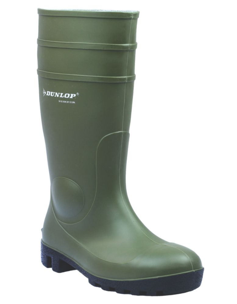 Dunlop Protomastor 142VP   Safety Wellies Green Size 4