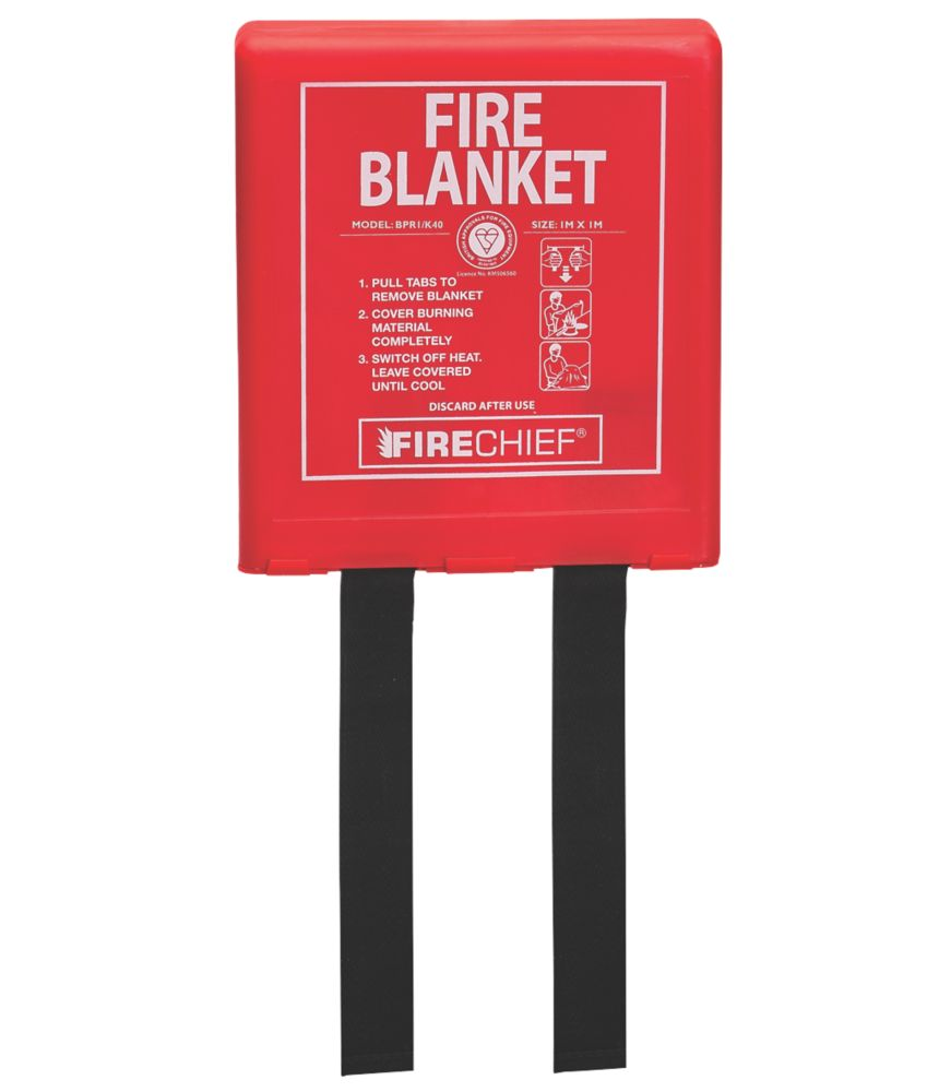 Firechief  Fire Blanket with Rigid Case 1 x 1m