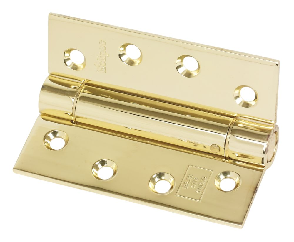 Eclipse Electro Brass Ungraded Fire Rated Adjustable Self-Closing Hinge 102 x 76mm 2 Pack