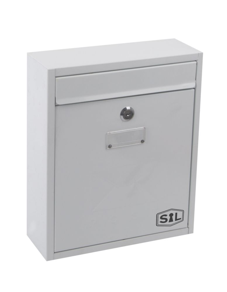 Smith & Locke Compact Post Box White Powder-Coated