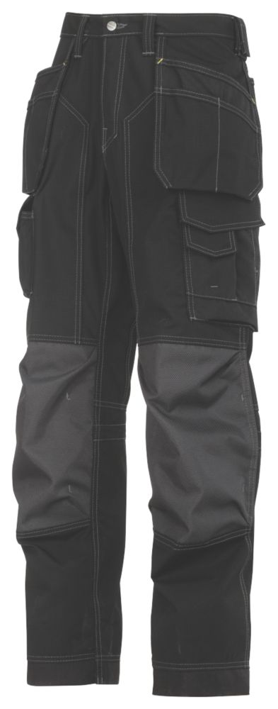 """Snickers 3223 Floorlayer Trousers Grey / Black 38"""" W 32"""" L"""
