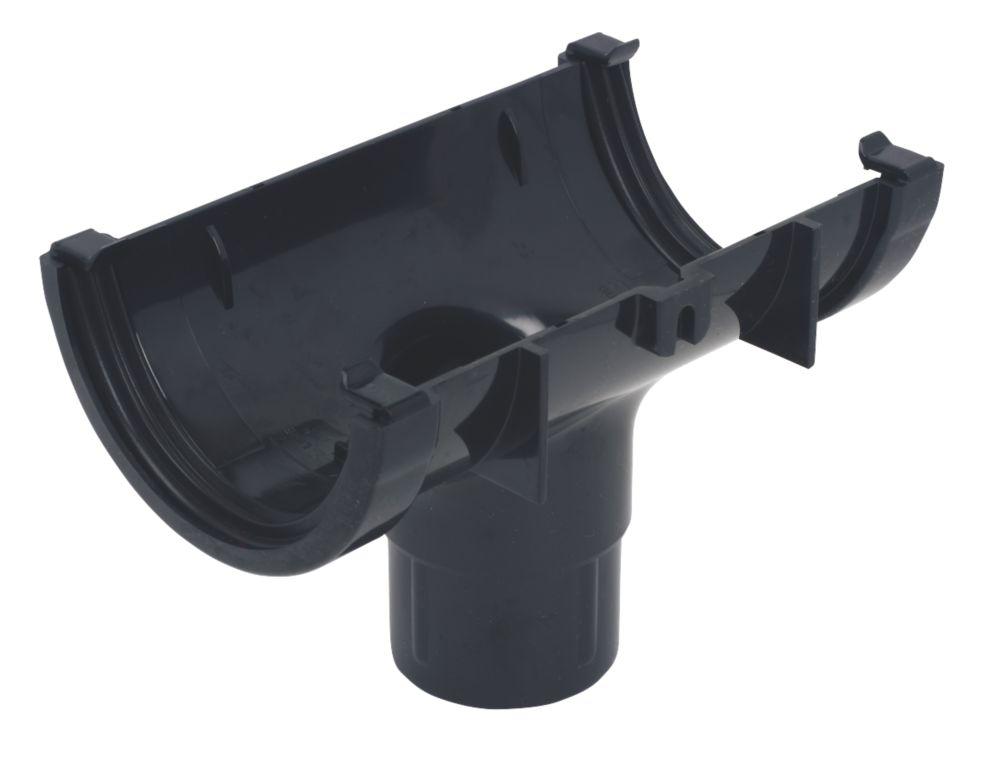 FloPlast Mini Line Running Outlet 76 / 50mm Black