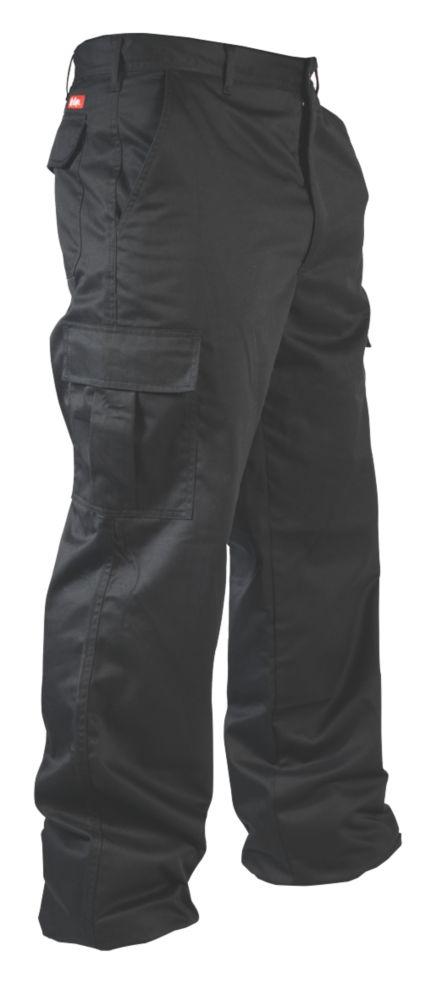 "Lee Cooper LCPNT205 Work Trousers Black 34"" W 31"" L"