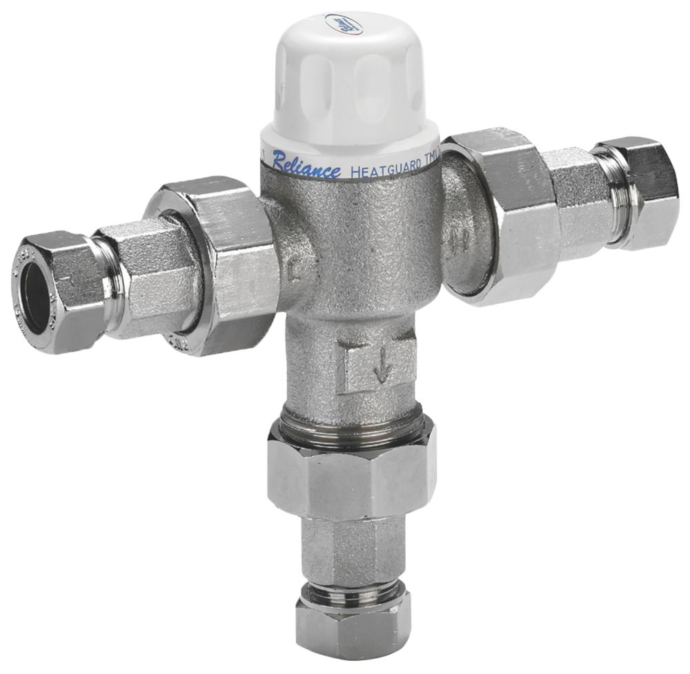 Reliance Valves HEAT160005 Heatguard 2-in-1 Thermostatic Mixing Valve 15mm