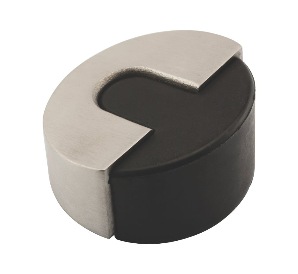 Eclipse Round Door Stop Satin Stainless Steel