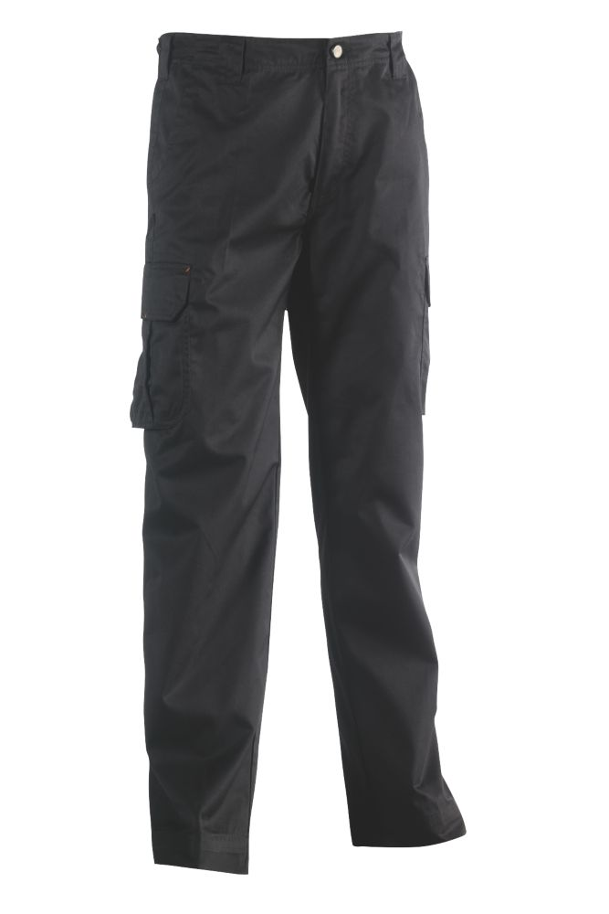 "Herock Thor Work Trousers Black 32"" W 31"" L"