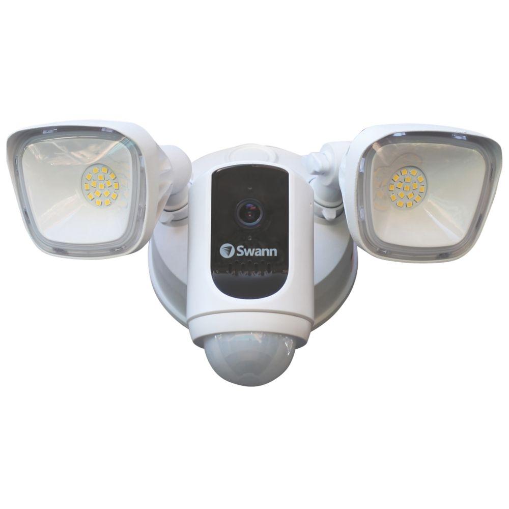 Swann SWWHD-FLOCAMW-EU Wi-Fi Camera & Floodlight Security System PIR White
