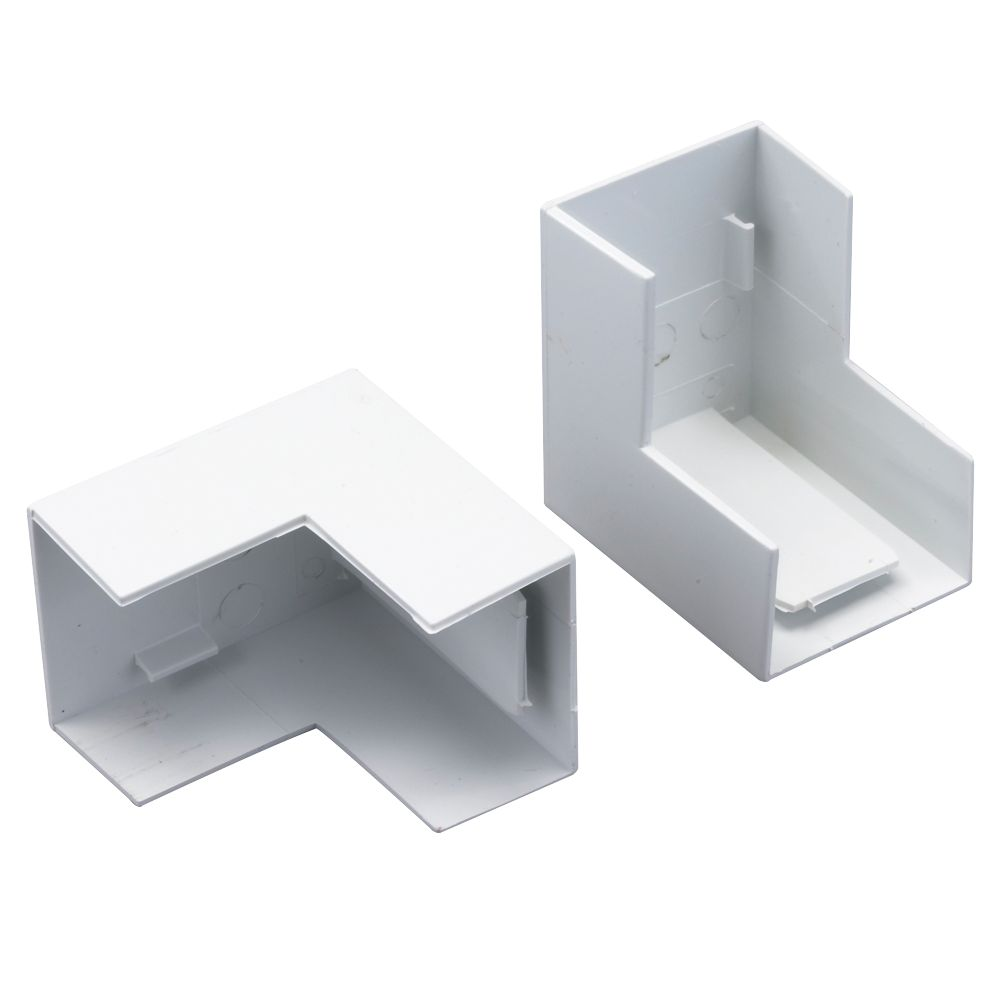 Tower  External Trunking Angle 38 x 25mm 2 Pack