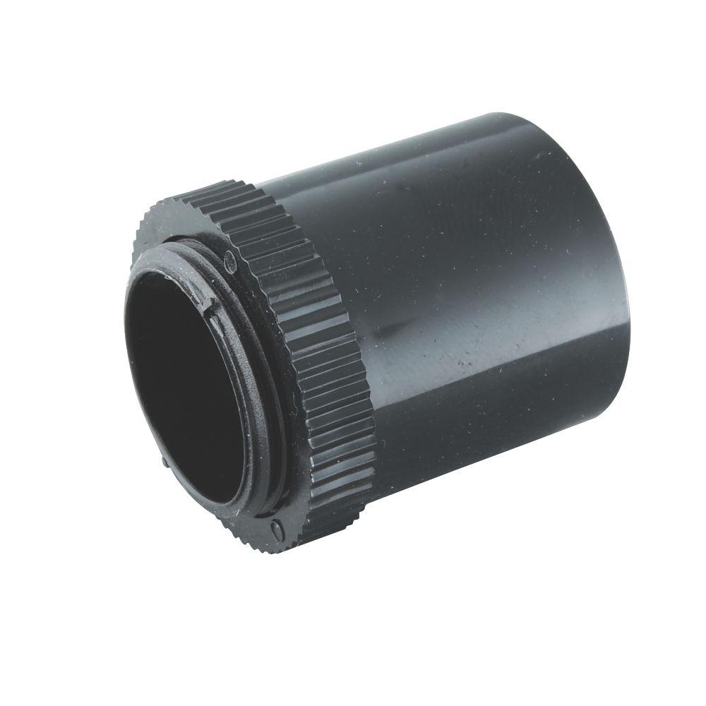 Tower Male Adaptors 25mm Black Pack of 2