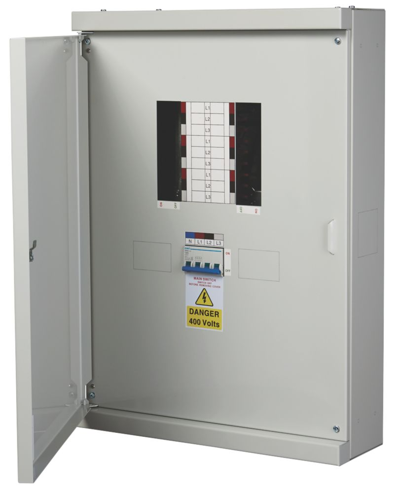 Chint Nxdb 6-Way 125A TP & N Meter Ready 3-Phase Distribution Board