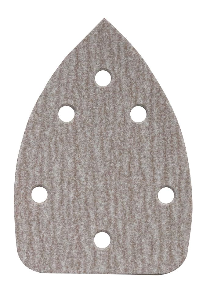 Norton Expert Corner Sanding Triangles Punched 136 x 95mm 180 Grit 5 Pack