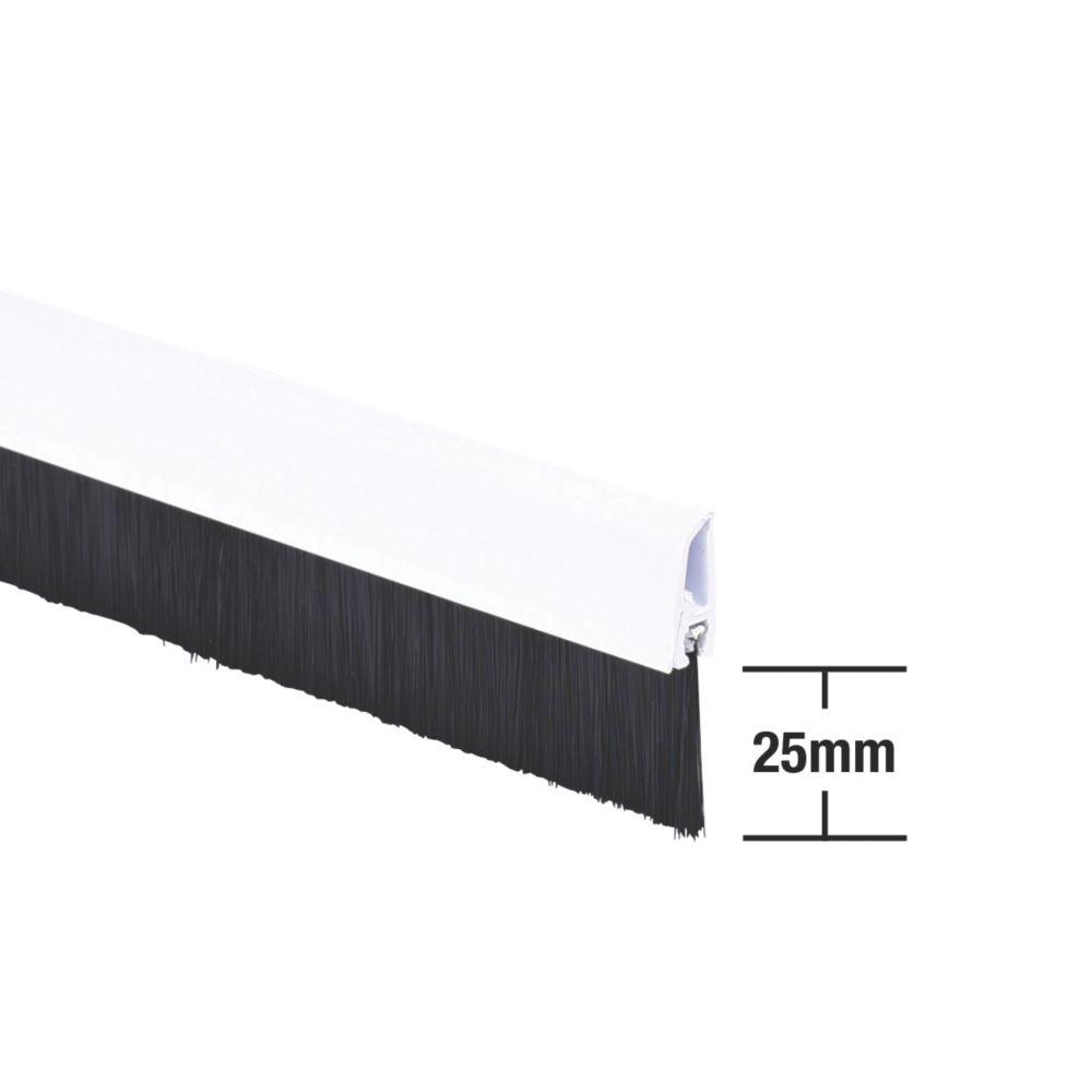 Stormguard Bottom Door Brush Draught Excluder White 1m