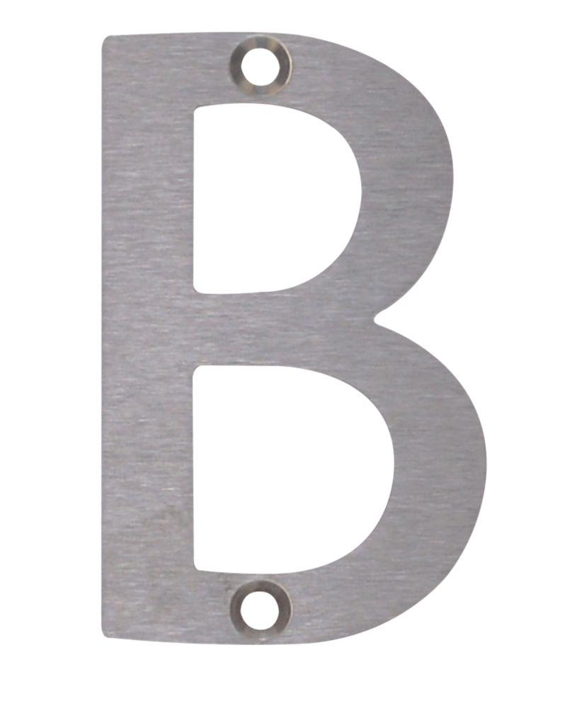 Fab & Fix Door Letter B Satin Stainless Steel 78mm