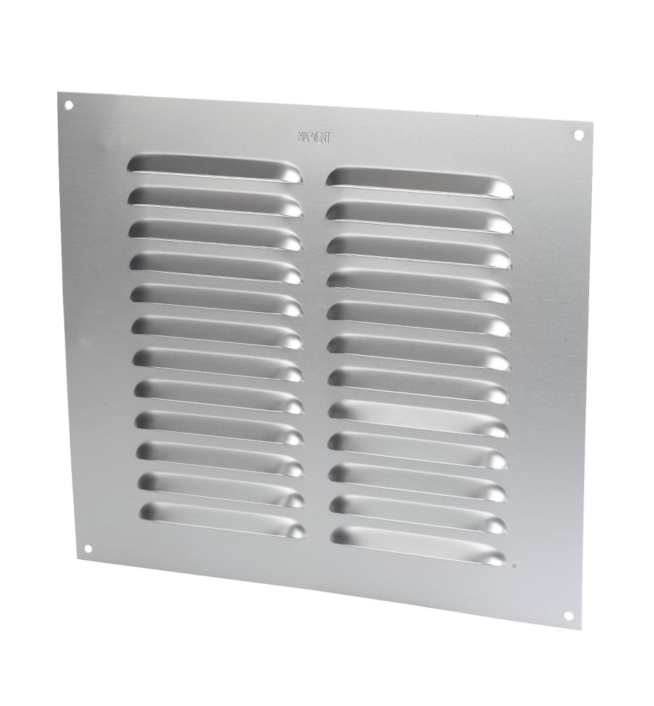 Map Vent Fixed Louvre Vent Silver 229 x 229mm