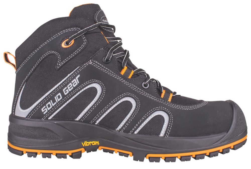 Solid Gear Falcon   Safety Trainer Boots Black / Orange Size 11