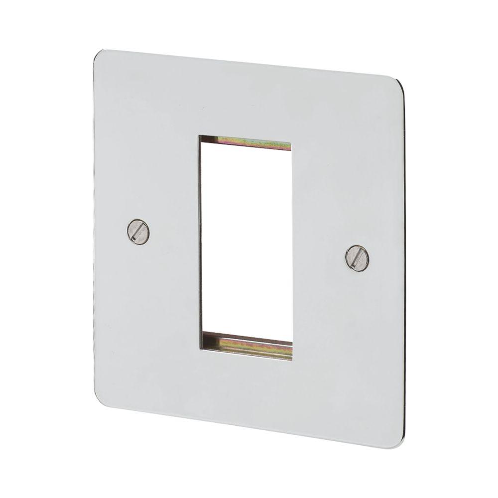 MK Edge 1-Module Modular Light Switch Surround Brushed Stainless Steel