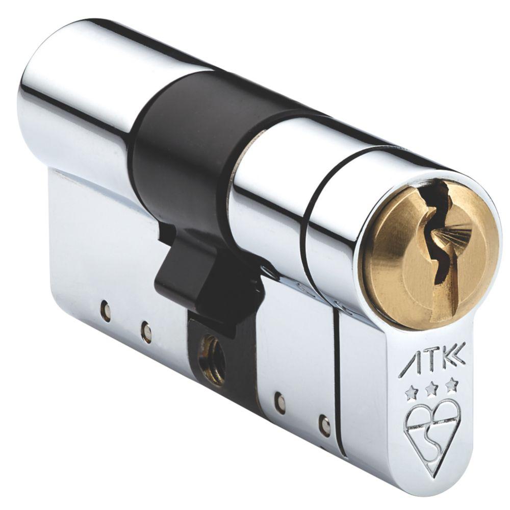 Avocet Hardware 3 Star Double Euro Cylinder 45-45 (90mm) Polished Brass / Chrome
