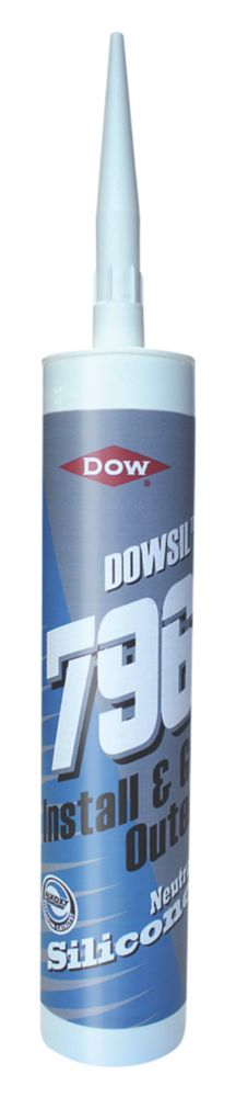Dow 796 uPVC Silicone Sealant Brilliant White 310ml