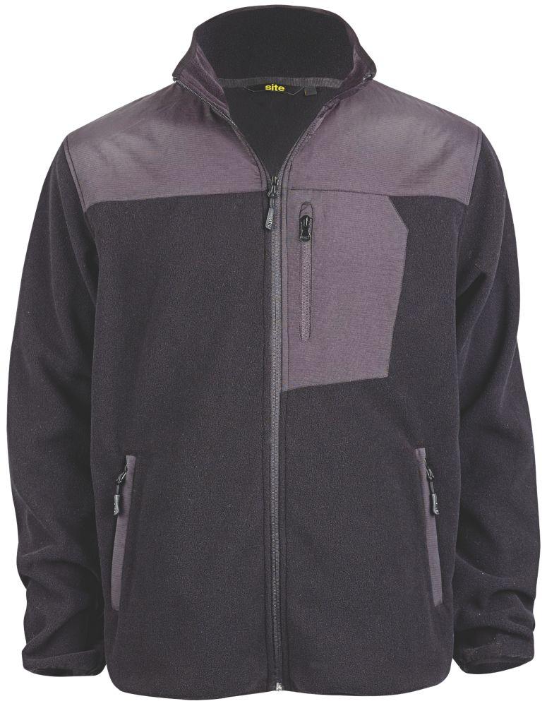 "Site Teak Fleece Jacket Black Large 44"" Chest"
