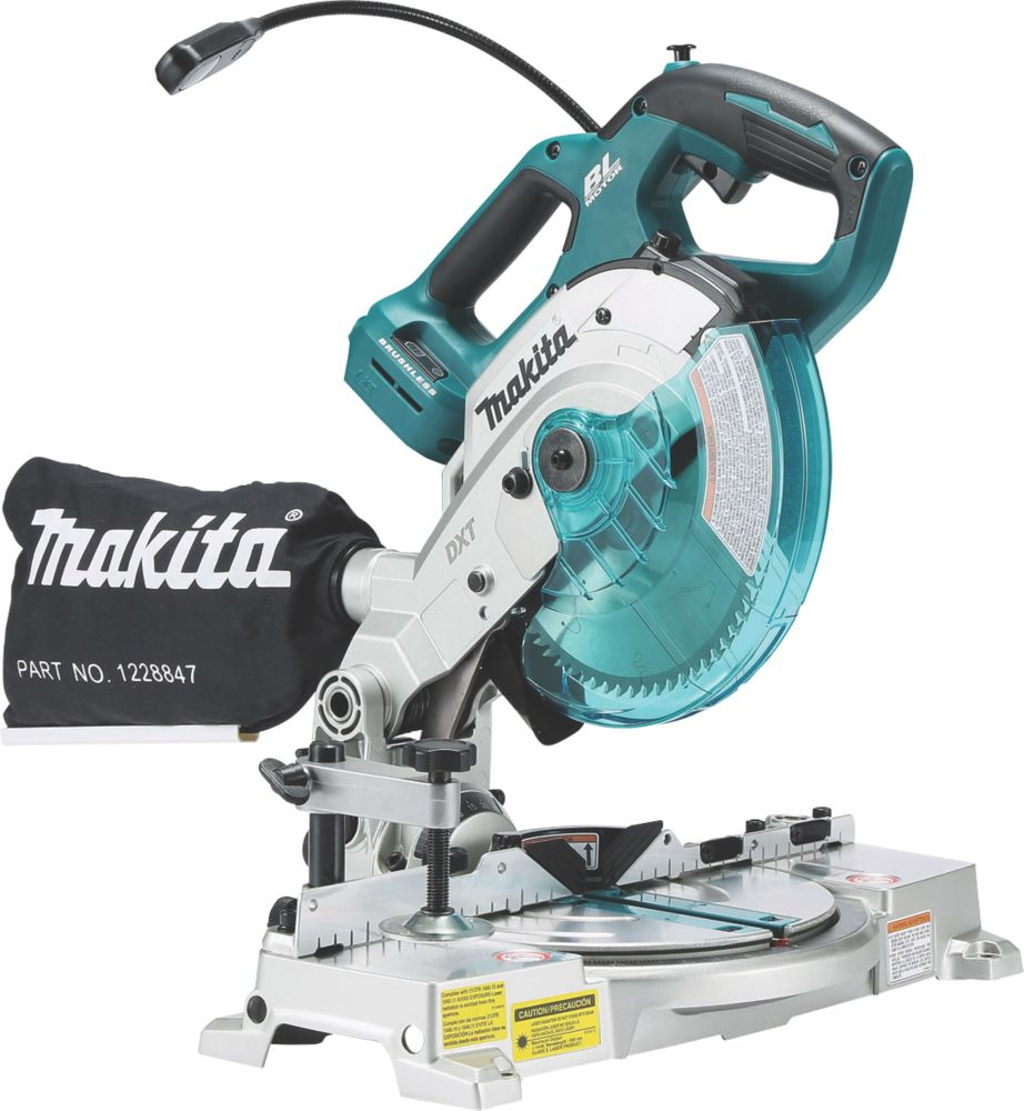 Makita DLS600Z 165mm 18V Li-Ion LXT Brushless Cordless Double-Bevel  Compound Mitre Saw - Bare