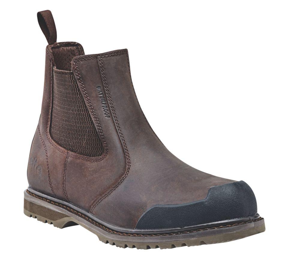 Site Prairie   Safety Dealer Boots Brown Size 8
