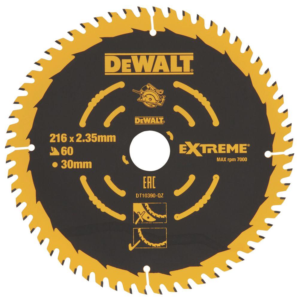 DeWalt TCT Saw Blade 216 x 30mm 60T