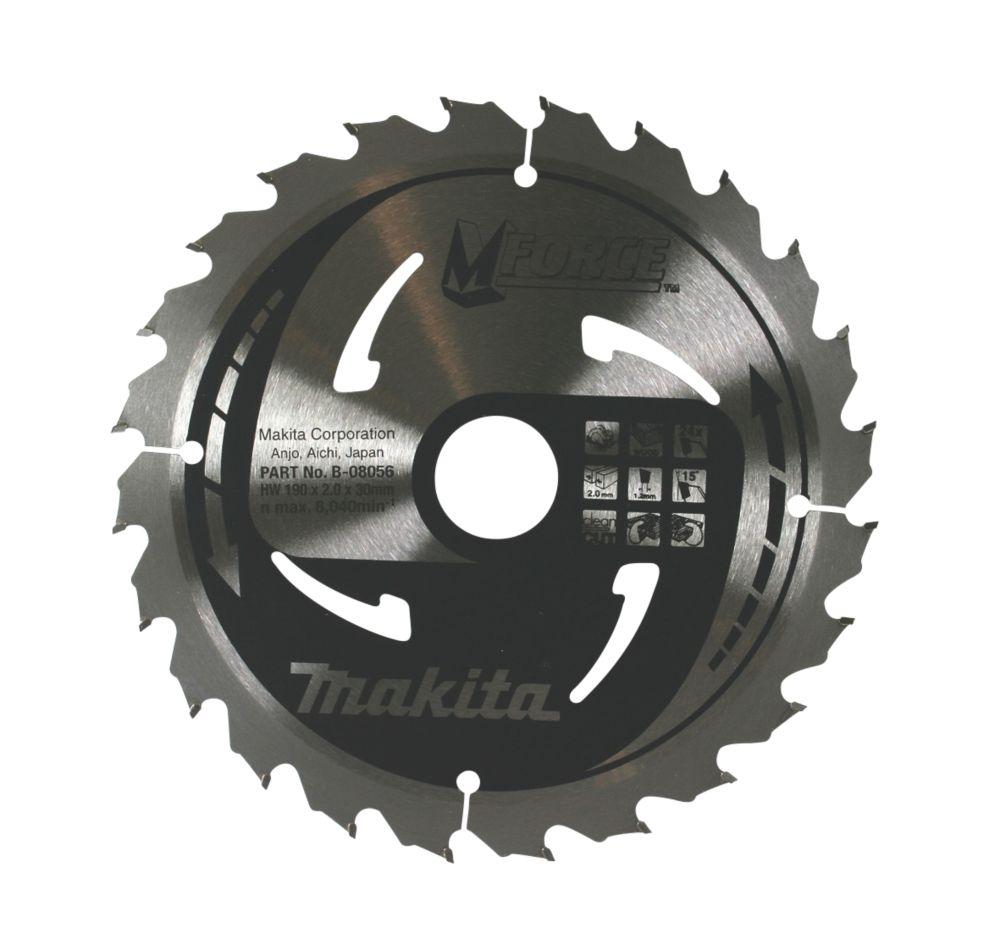Makita TCT Mitre Saw Blade 190 x 30mm 24T