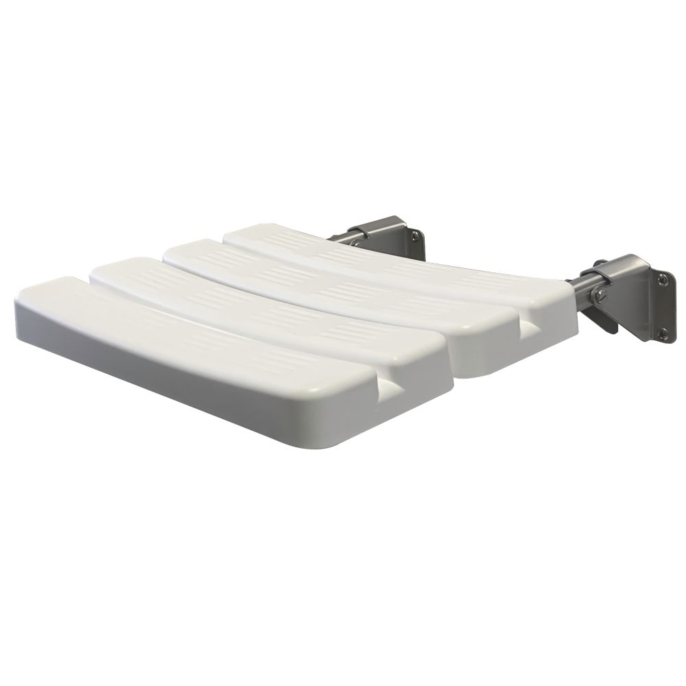 Franke Wall-Mounted Folding Shower Seat White / Chrome