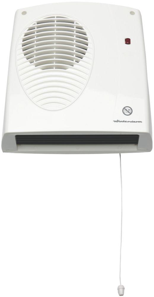 Winterwarm WWDF20E Wall-Mounted Fan Heater  2000W 229 x 242mm