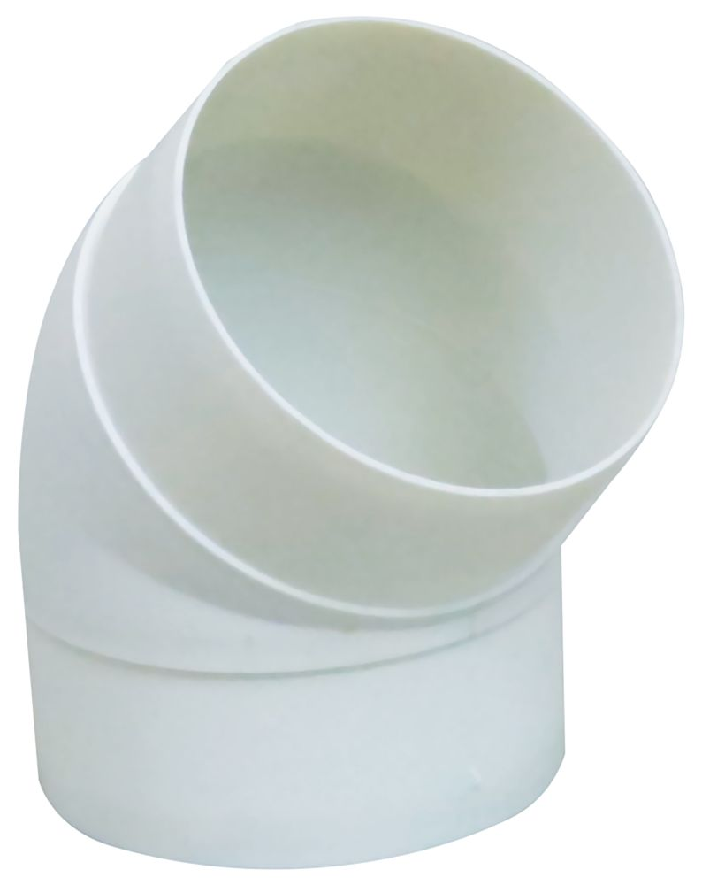 Manrose 45° Bend White 100mm