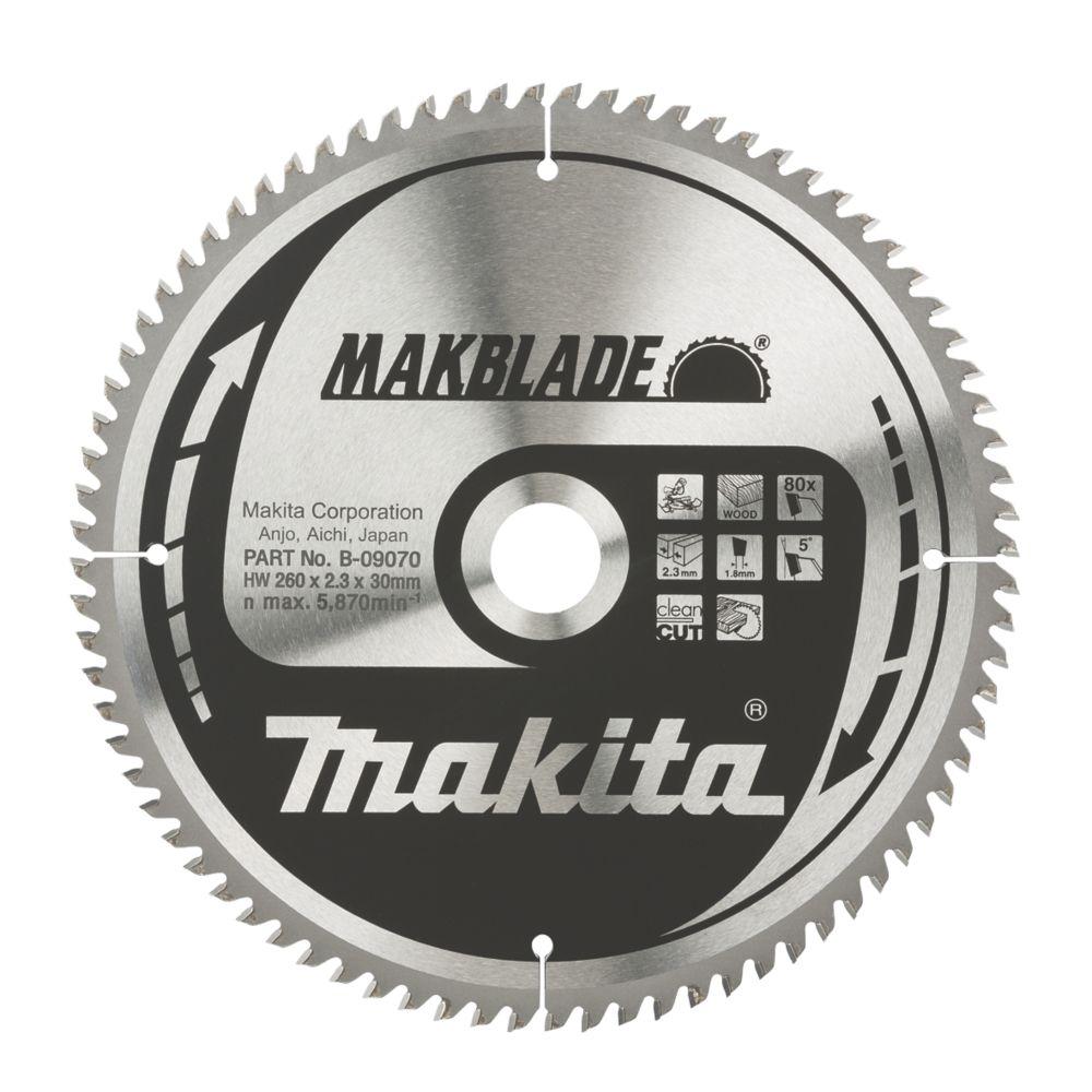 Makita TCT Circular Saw Blade 260 x 30mm 80T