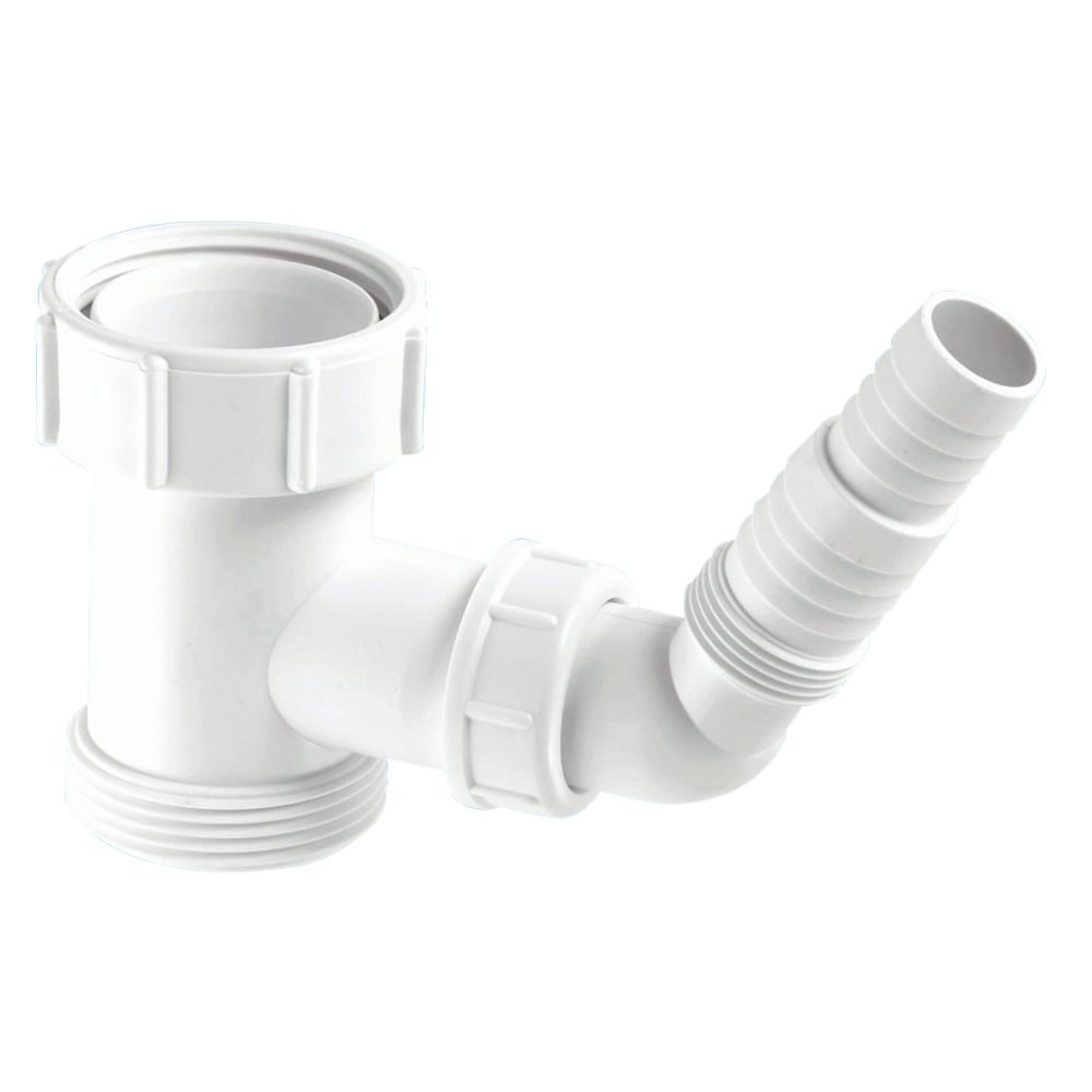 McAlpine V33S Compression Domestic Appliance Tee Piece Connector White 40mm