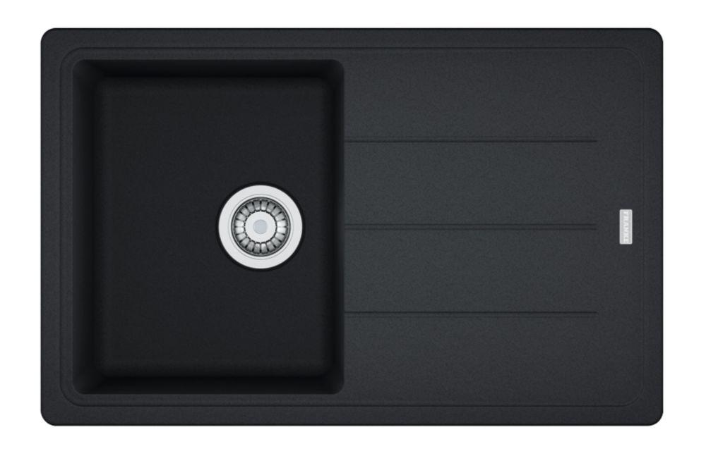 Franke Basis Fragranite Square Composite Inset Sink Onyx 1 Bowl Reversible 780 x 500mm