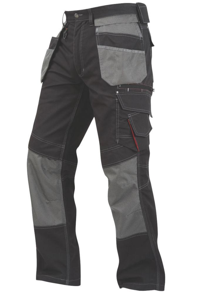 "Lee Cooper LCPNT224 Work Trousers Black 34"" W 31"" L"