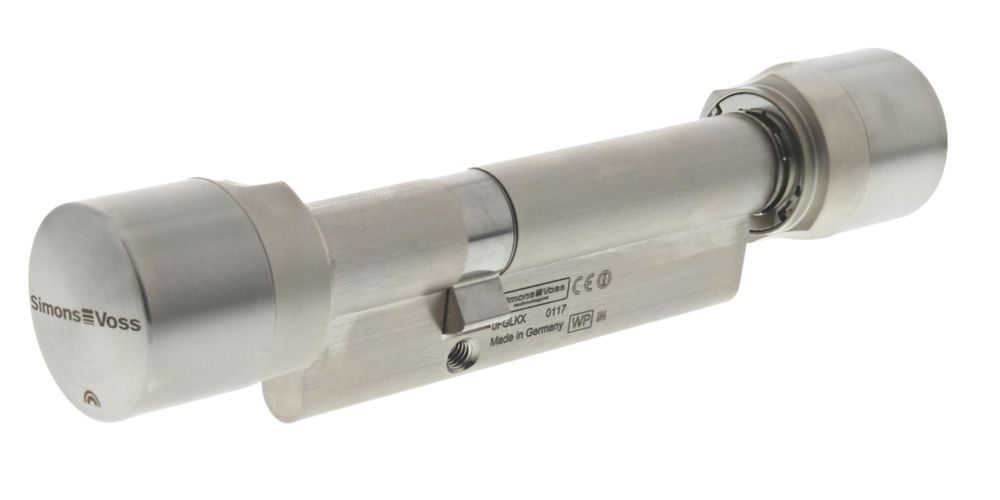 SimonsVoss Digital Euro Profile Cylinder Double-Thumbturn Lock 30-55 (85mm) Satin Stainless Steel