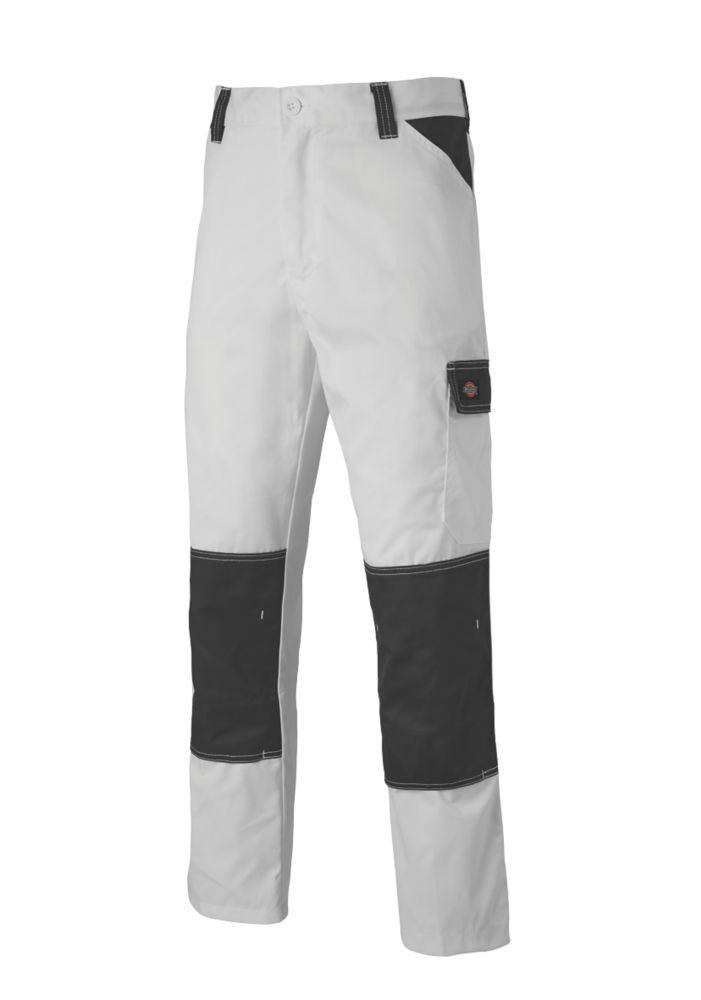 """Dickies Everyday Work Trousers White / Grey 44"""" W 31"""" L"""