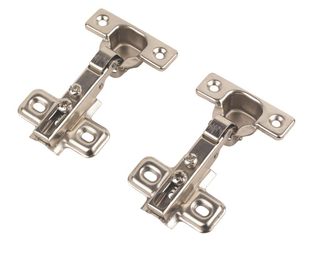 Steel Sprung Concealed Hinges 26mm 2 Pack