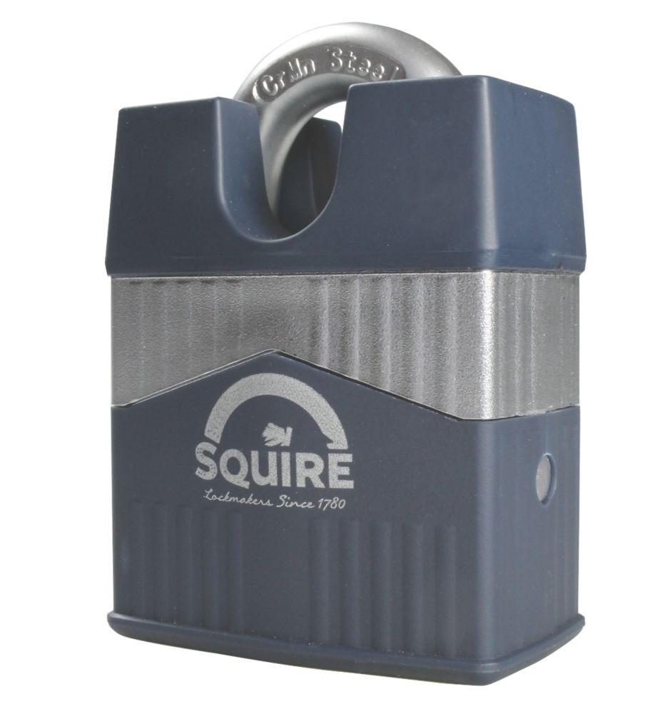 Squire Warrior 55 c/s Hardened Steel  Weatherproof Closed Shackle  Padlock 55mm