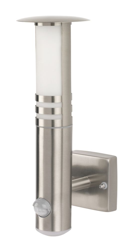 Smartwares RVS70LED Outdoor LED Wall Light & PIR Stainless Steel 205lm 20W