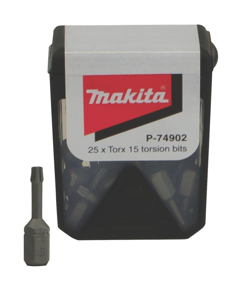 Makita Torsion Screwdriver Bit Box TX15 x 25mm 25 Pack