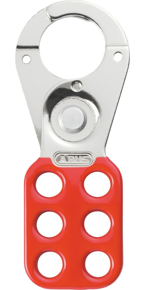 """Abus  1"""" Red Steel Lockout Hasp"""