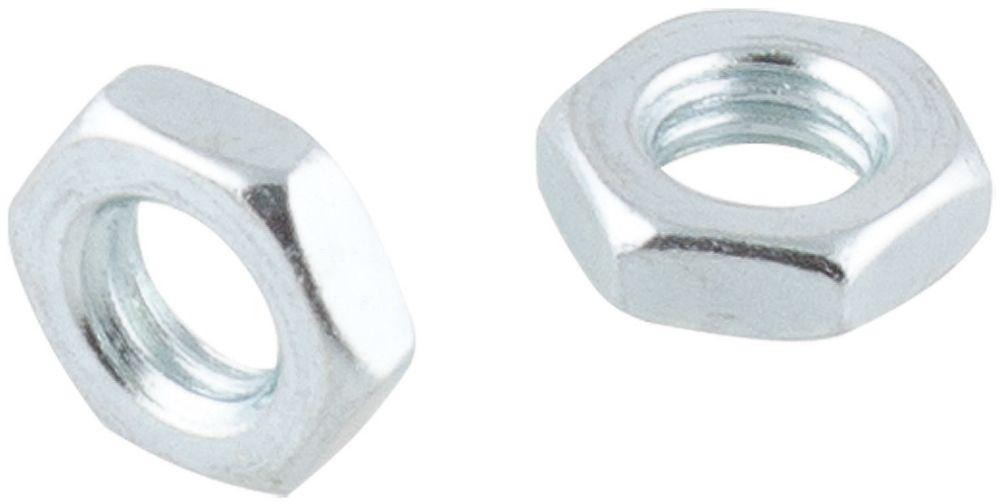 Easyfix Carbon Steel Hex Flat Nuts M5 100 Pack