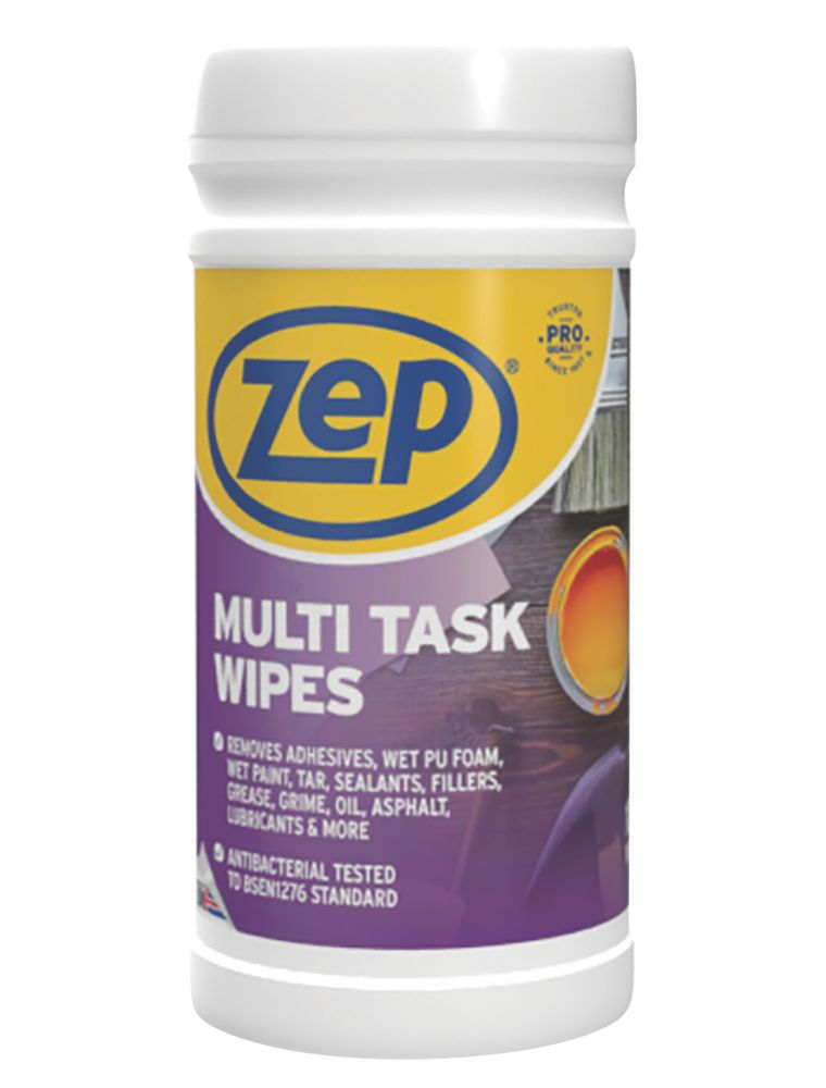 Zep Commercial Multi-Task Wipes White 100 Pack